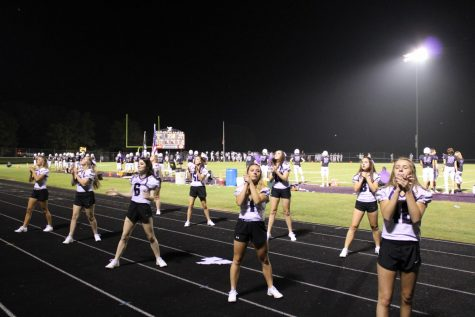 FGHS Cheerleaders preforming at a past football game.