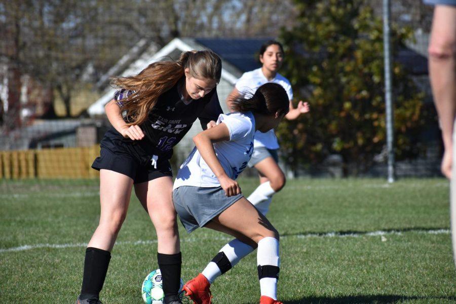 Fair Grove girls soccer vs Carthage on 3/29.