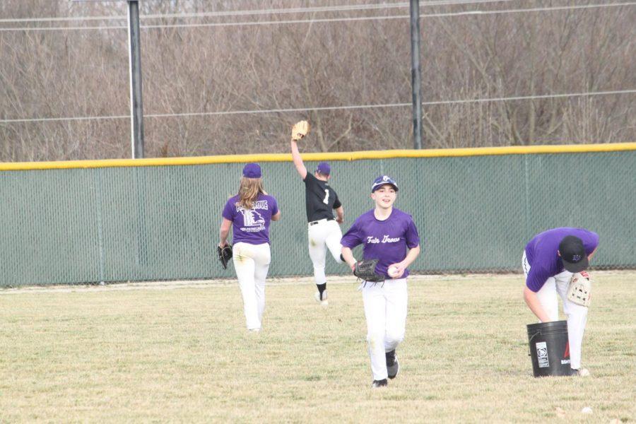 Fair Grove High School baseball team preparing for their upcoming games.
