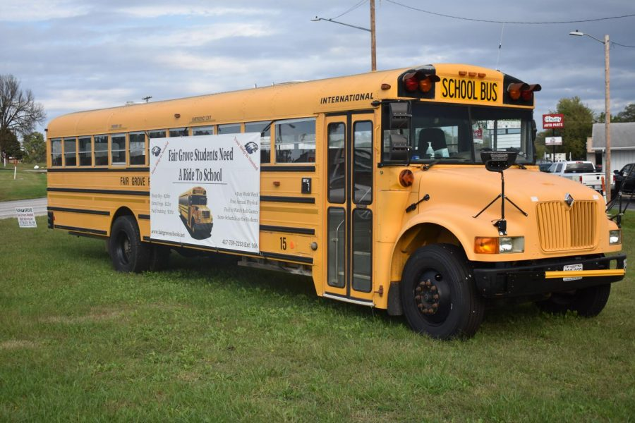 Fair Grove Students Need a Ride to School. Job advertisement in front of the OReillys in Fair Grove, pictured 10/13/21.