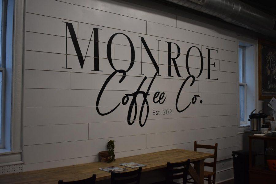 Monroe Coffee Co. logo painted by Fair Grove High School Art Club.