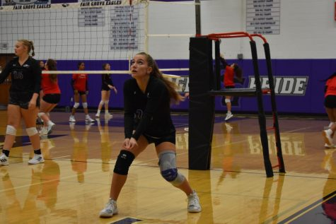 Anna Fanciullo playing in her first volleyball season in America.