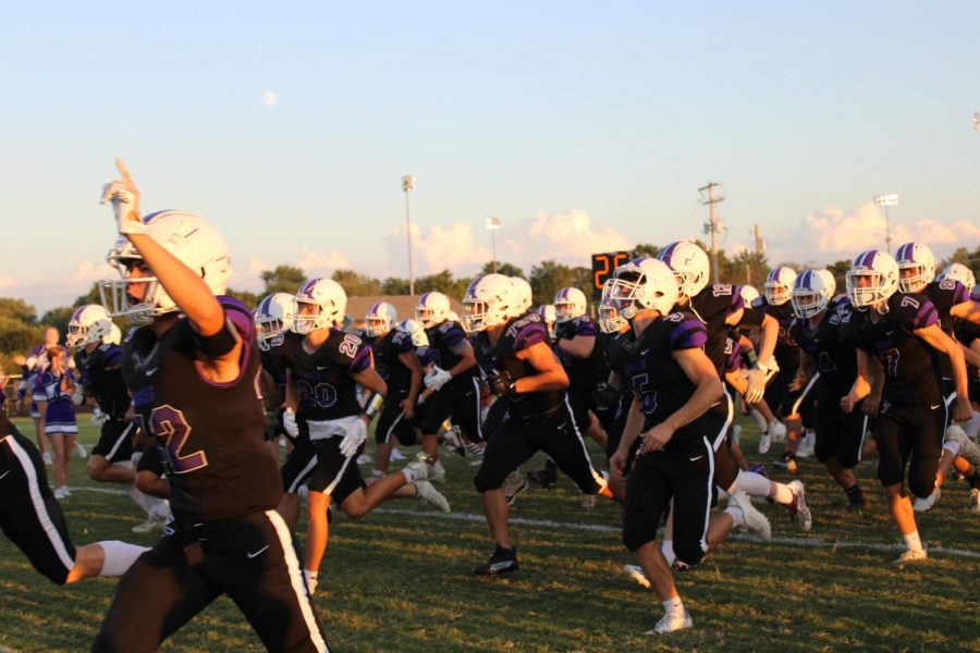 Fair Grove Eagles enter the field ready to play the Forsyth Panthers on 09/17/21.