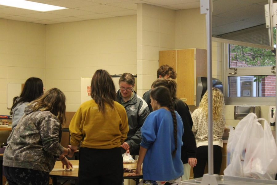 FCCLA members bonding while making smores at their meeting on Oct. 6.